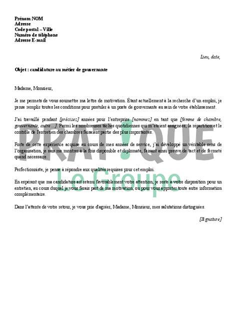 lettre de motivation femme de chambre hotel de luxe lettre de motivation pour un emploi de gouvernante