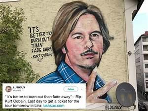 David Spade confused by Kurt Cobain mural that looks like ...