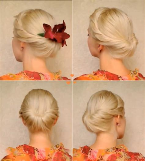 wonderful diy elegant updo  medium long hair
