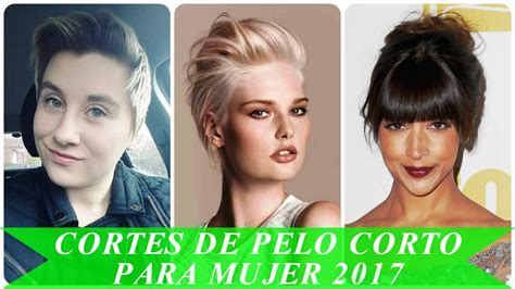 Cortes de pelo corto para mujer 2017 YouTube