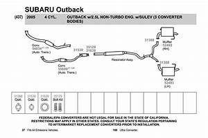 35 2004 Subaru Outback Exhaust System Diagram