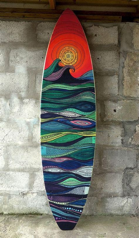 This video will show you. 20 Collection of Surf Board Wall Art   Wall Art Ideas