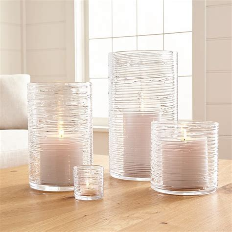 spin glass hurricane candle holdersvases crate  barrel