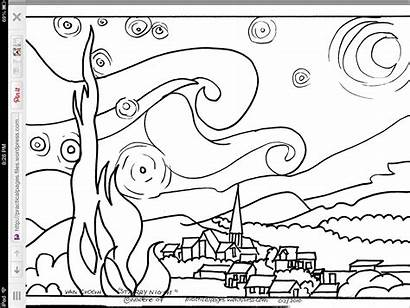 Coloring Starry Night Projects Pages Gogh Van