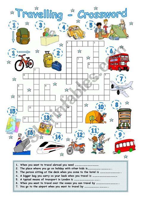 travelling crossword myvacationplanorg