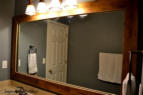 Perfect Wood Framed Bathroom Mirrors And Best 25 Reclaimed