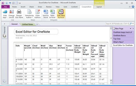 Drop List Inside Inside Templates by Onenote Gem Excel Editor Office Onenote Gem Add Ins