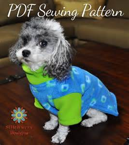 DOG CLOTHES PATTERN, Small Dog Fleece Sweater Sewing Pattern, Dog Clothes Digital Pattern, Digital Pdf Sewing Pattern, 5 Sizes Included