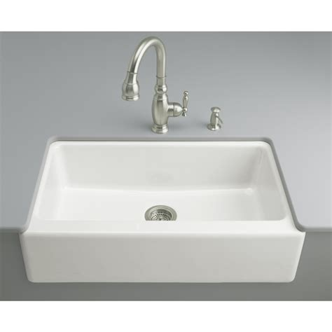 white single bowl kitchen sink shop kohler dickinson 22 12 in x 33 in white single basin