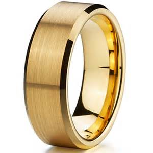 cheap mens engagement rings cheap classic gold ion plating tungsten mens wedding ring size 15 aliancas de casamento em ouro jpg