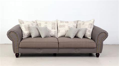 big sofa beige big sofa carlos lederlook taupe webstoff beige grau