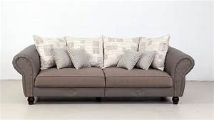 Big Sofa Grau : big sofa carlos lederlook taupe webstoff beige grau ~ Buech-reservation.com Haus und Dekorationen