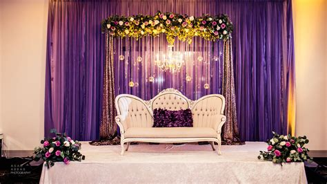 lilac engagement stage draped backdrop  fresh floral
