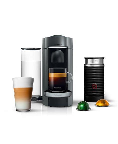 Nespresso vertuo evoluo coffee and espresso machine by de'longhi, red. Nespresso by De'Longhi Vertuo Plus Deluxe Coffee & Espresso Maker with Aerocinno Frother ...