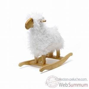 Mouton A Bascule : mouton bascule blanc teddykompaniet 1378 dans cheval bascule ~ Teatrodelosmanantiales.com Idées de Décoration