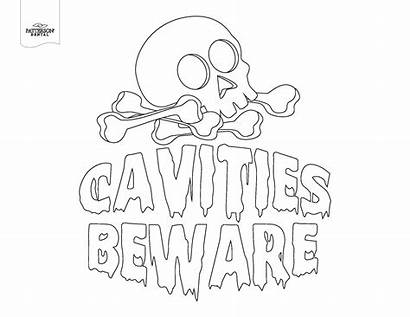 Dental Halloween Coloring Pages Themed Costume Drawing