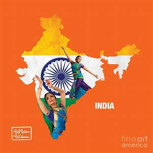The Map Of India Digital Art by To-Tam Gerwe