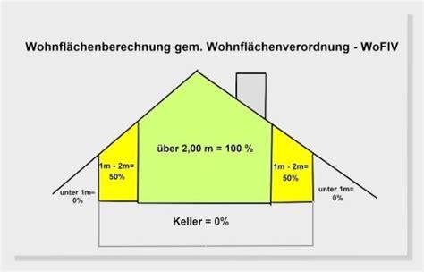 Wohnfläche Berechnen Dachschräge by Wohnfl 228 Che
