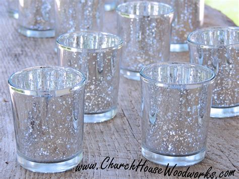 votive candle holders 12 silver mercury glass votive holders church house