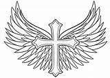 Wings Cross Drawing Draw Tattoo Step Tattoos Cool Easy Coloring Pages Cruz Angel Dragoart Crosses Drawings Designs Wing Tatuaje Alas sketch template