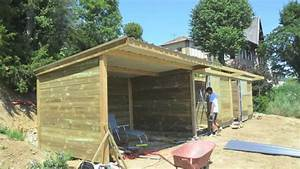 Building horse stables - time lapse - YouTube