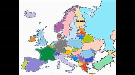 Los Paises De Europa Para Niñoscontinenten Europeo Youtube