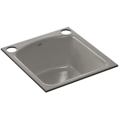 cast iron undermount kitchen sinks kohler napa undermount cast iron 19 in 2 single bowl 8068
