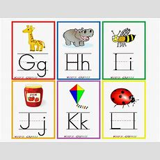 Printable Alphabet Flashcards With Pictures  Printable 360 Degree