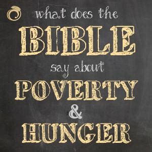 what does the word cuisine what does the bible say about poverty and hunger