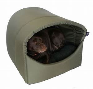 Omega hooded cave covered dog bed extra large for for Covered dog bed large