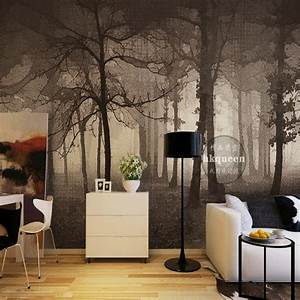 Custom photo wallpaper 3D Nordic simple elegant forest ...