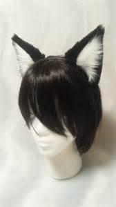 velvety black cat ears headband