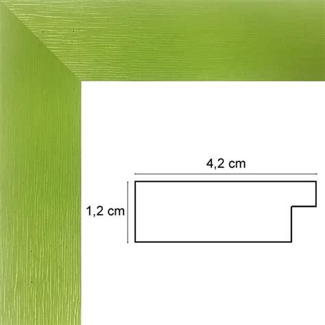 encadrement bois plat stri 233 vert anis avec verre et dos sur cadre et encadrement