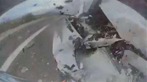 tesla model   smashed  totaled  violent