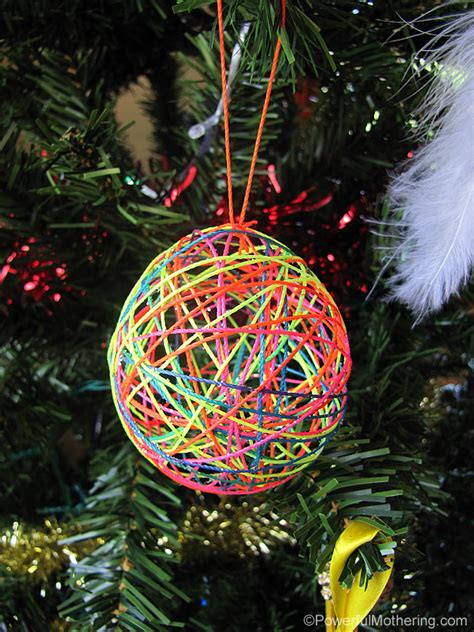 yarn  string ball christmas ornaments