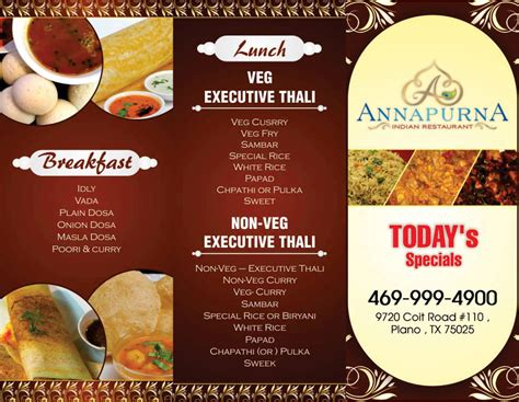 annapurna indian cuisine menu card annapurna indian restaurant avk innovation