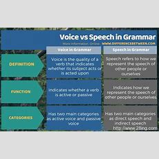 Difference Between Voice And Speech In Grammar  Voice V Speech In Grammar  Difference Between