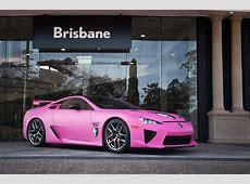 World's First Pink Lexus LFA Lexus Enthusiast