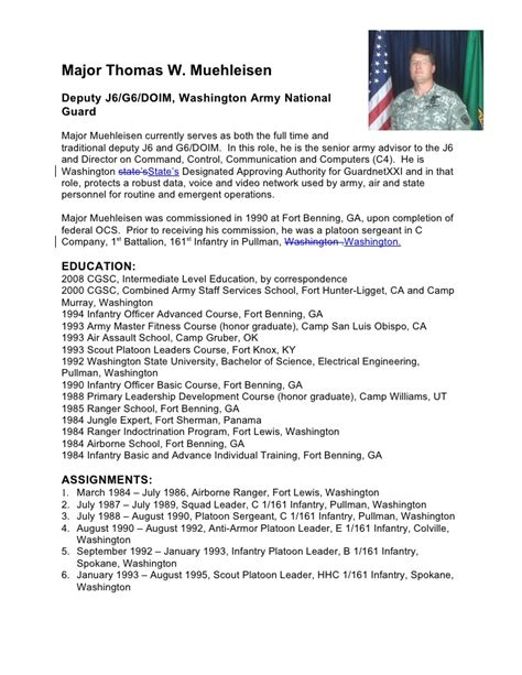24 Images Of Army Biography Template
