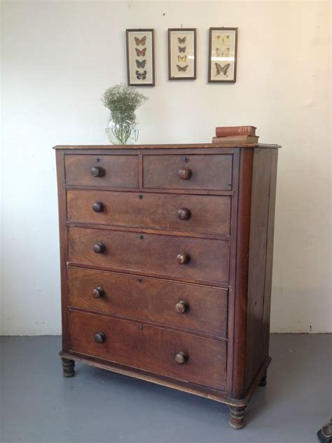 Homecho fabric dresser chest with 6 drawers, wide chest of drawers with 2 tier wood shelves, sturdy metal frame, tall nightstand functional organizer unit for closets, bedroom, hallway, dark brown. Lovely Large Victorian Antique Mahogany Chest Of Drawers ...