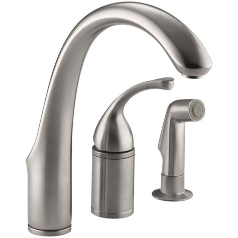 kitchen faucet with separate handle kohler forte single handle standard kitchen faucet with