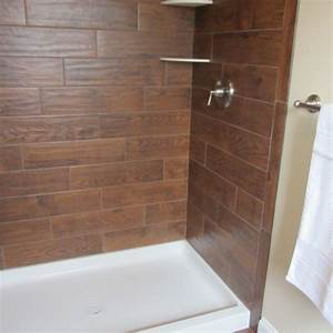 Wood tile Bathroom - Contemporary - Bathroom
