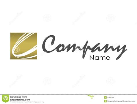 Company Logo Design Template Stock Illustration