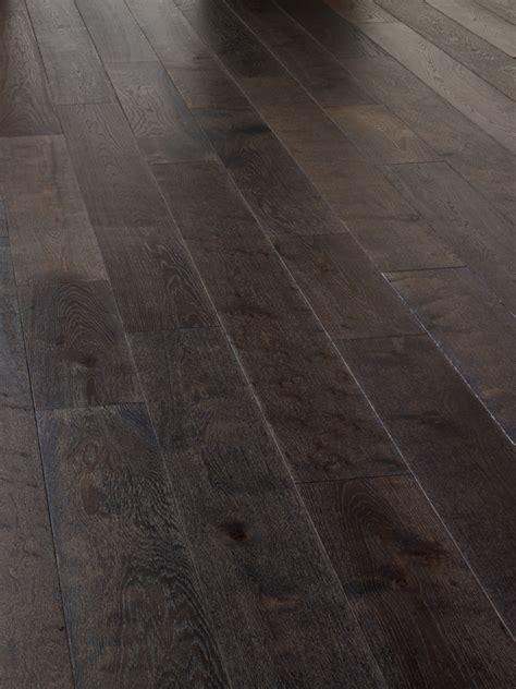 oak rustic brushed dark grey  uv oiled engineered