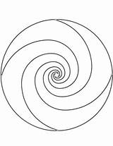 Spiral Coloring Mandala Pages Printable Mandalas Categories Medium sketch template