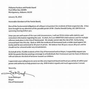 well support letter for parole letter format writing With how to make a letter board