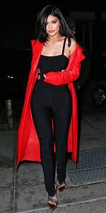 Kylie Jenner Wears Sexy Jumpsuit and Red Coat in N.Y.C. | InStyle.com