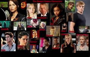 the hunger characters list with pictures the hunger games publish with glogster