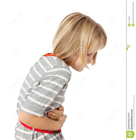 Child With Stomach Ache Royalty Free Stock Photography