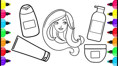 coloring set hair spa coloring pages how to draw hair spa set